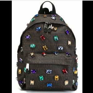 AW15 Moschino Couture Jeremy Scott Gems Backpack